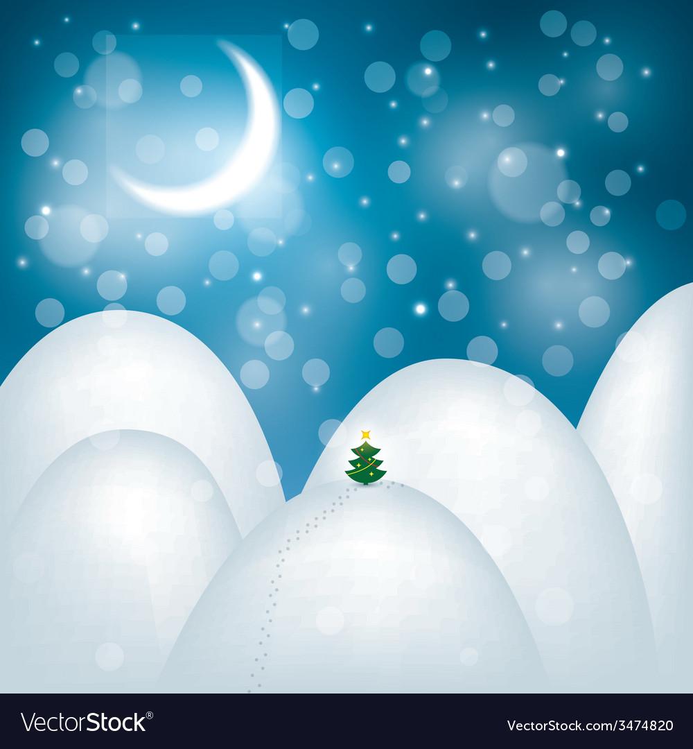 Magic christmas landscape vector   Price: 1 Credit (USD $1)