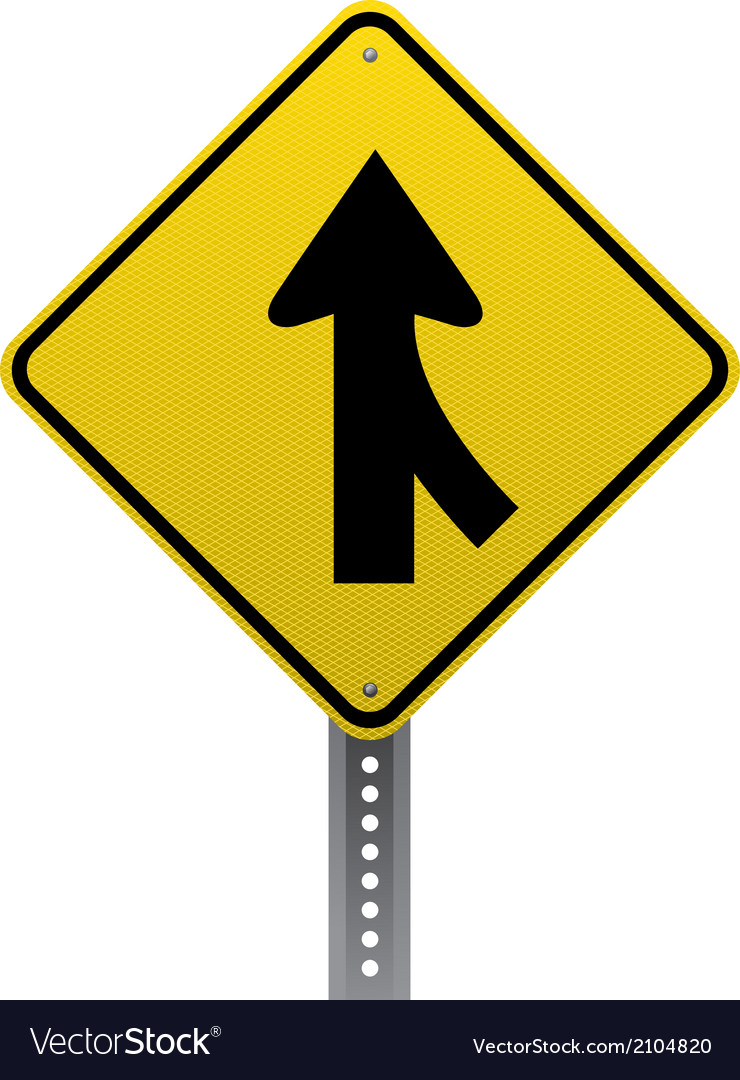 Merging traffic sign vector | Price: 1 Credit (USD $1)