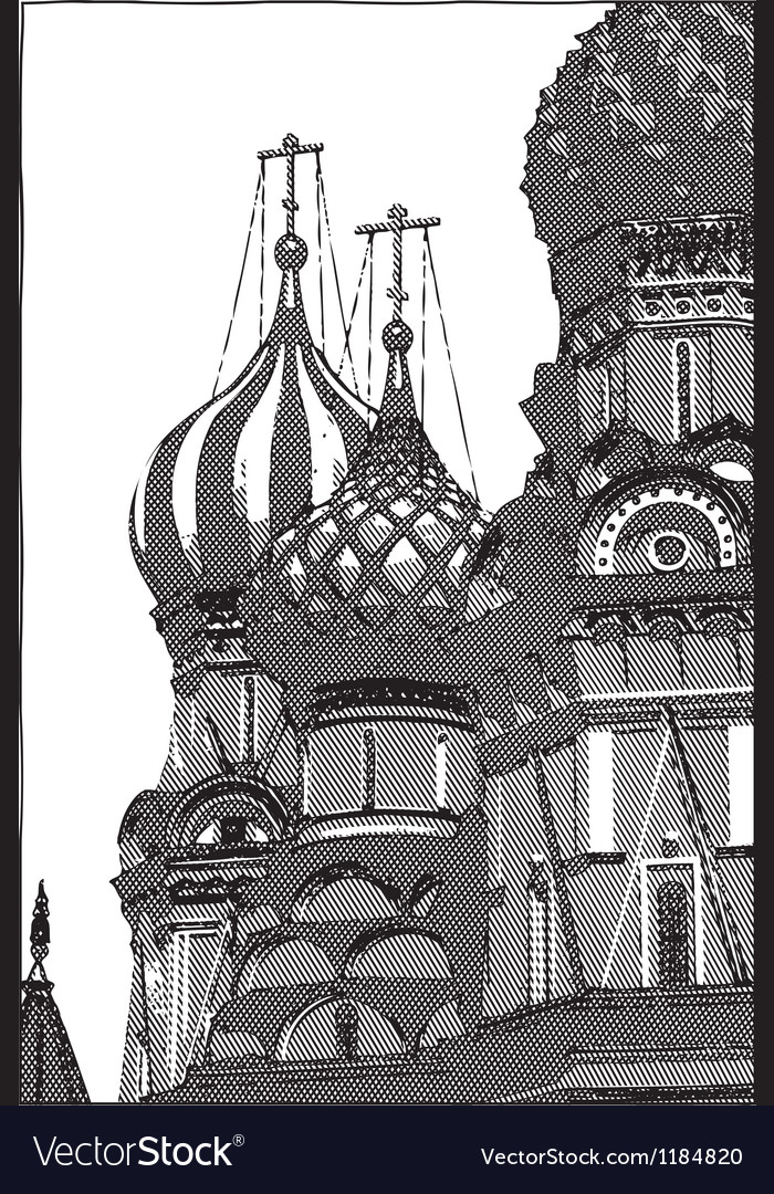 Pokrovsky cathedral russia vector | Price: 1 Credit (USD $1)