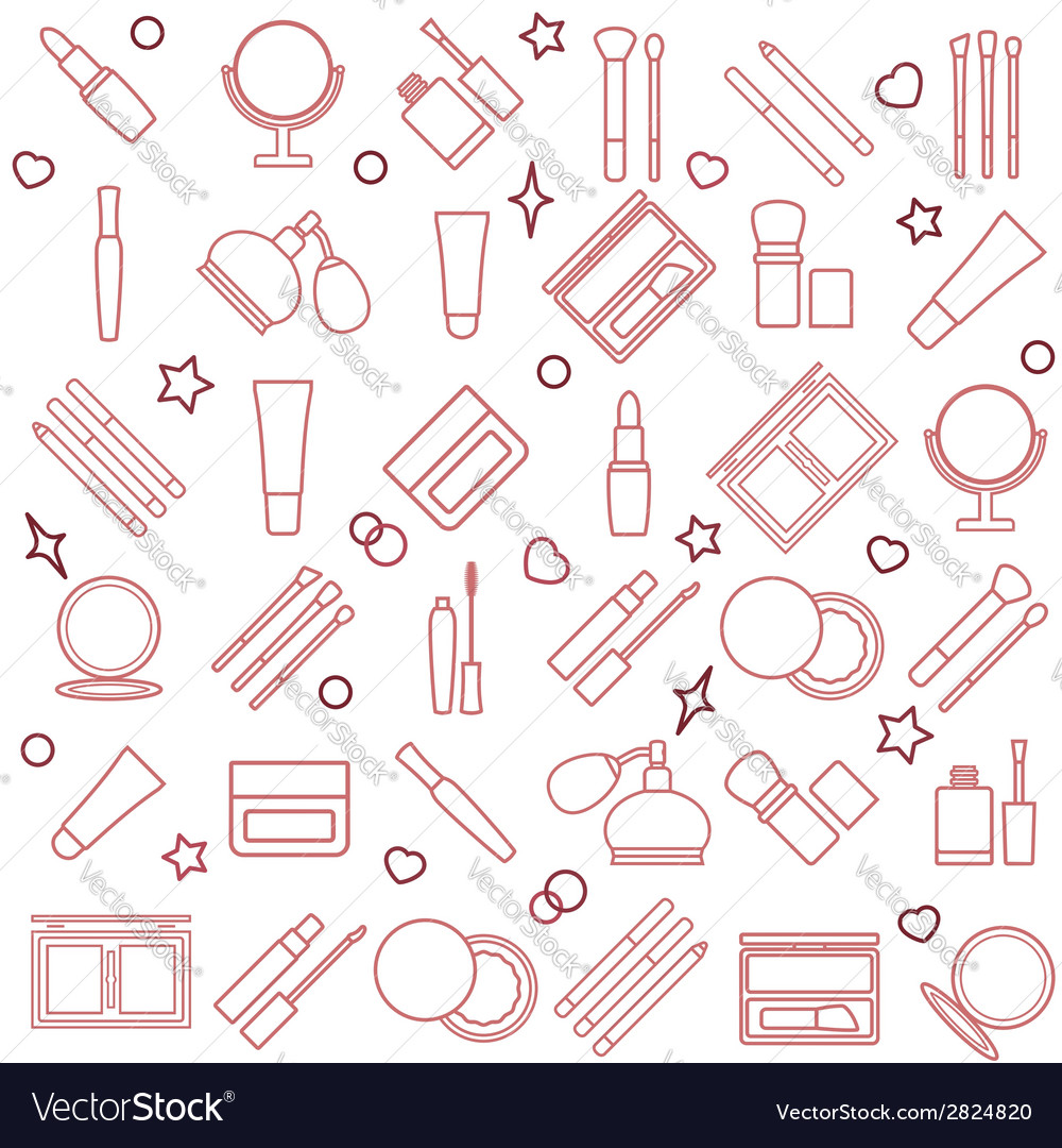 Womens cosmetic silhouette seamless pattern vector   Price: 1 Credit (USD $1)