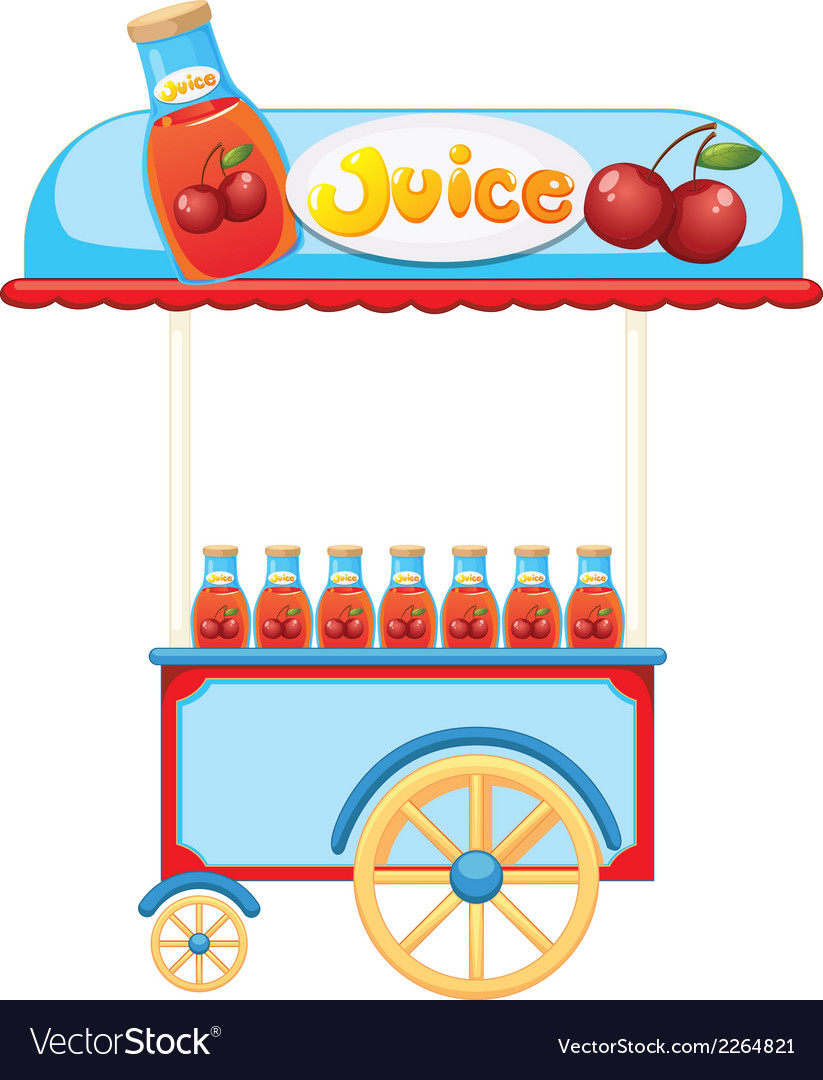 A juice cart vector | Price: 1 Credit (USD $1)