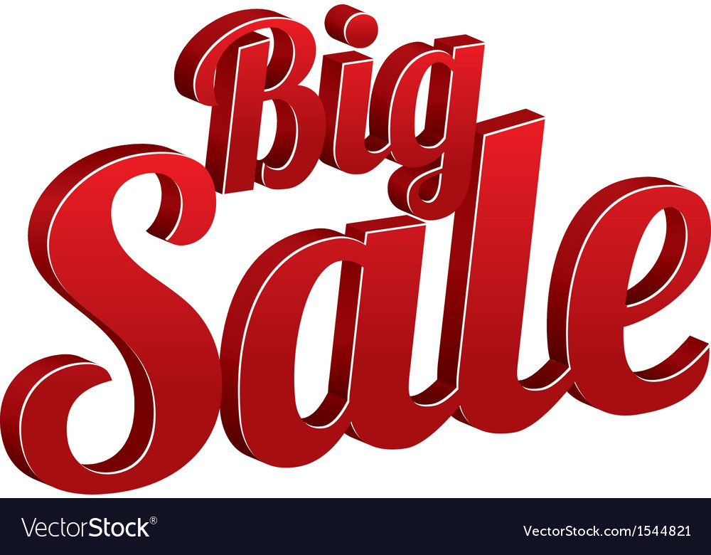 Big sale sign isolated  icon vector | Price: 1 Credit (USD $1)