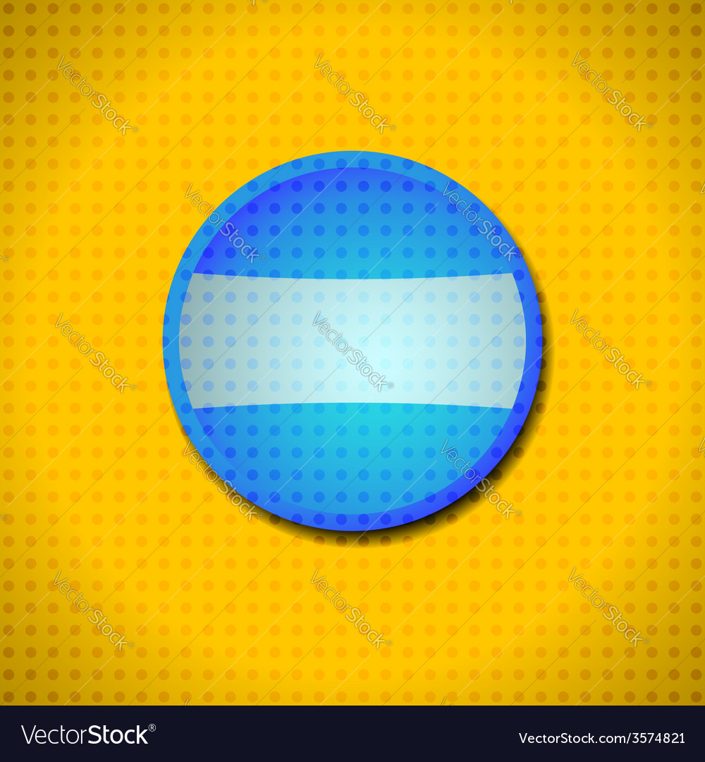 Blue button frame vector | Price: 1 Credit (USD $1)