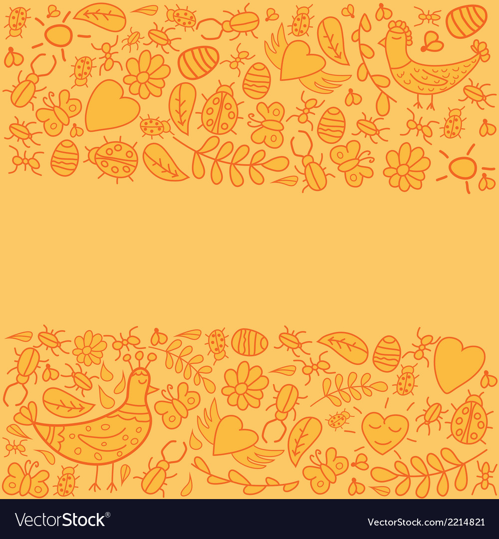 Colorful frame with orange background vector | Price: 1 Credit (USD $1)