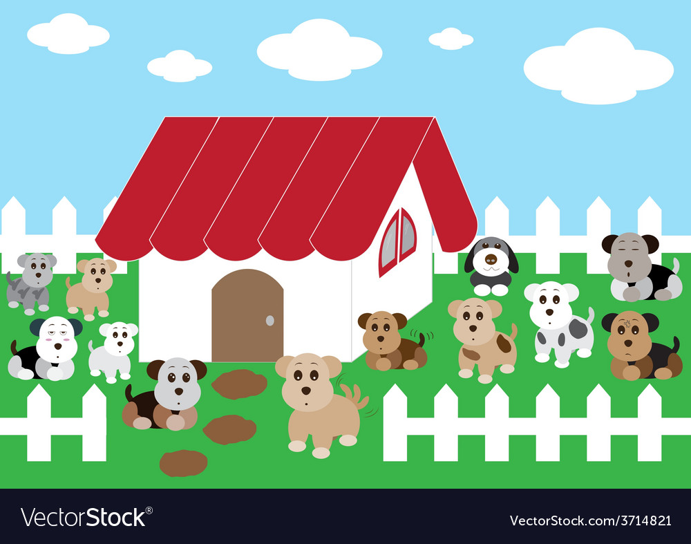 Cute home cute dogs1 01 vector | Price: 1 Credit (USD $1)