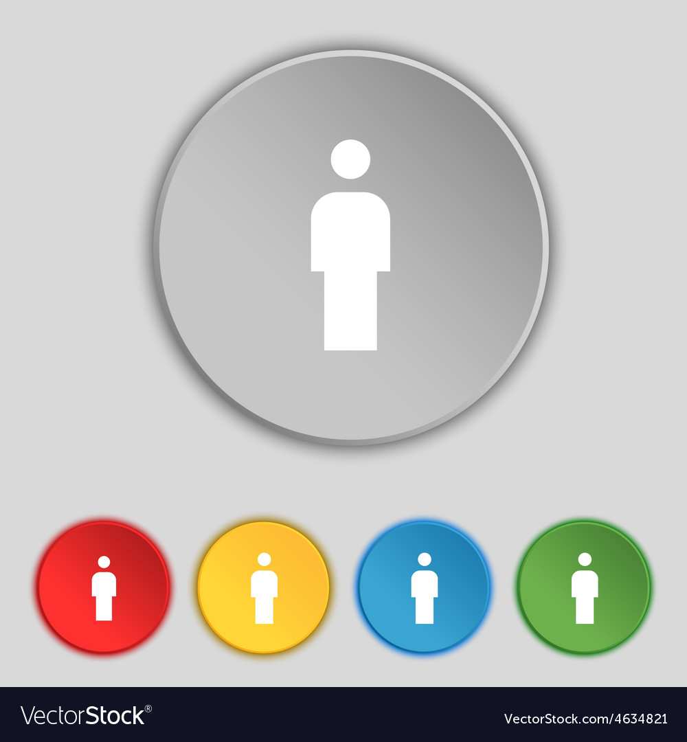 Human man person male toilet icon sign symbol on vector   Price: 1 Credit (USD $1)