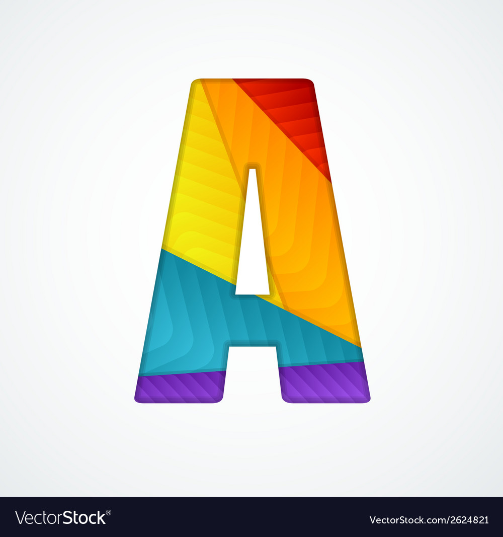 Paper letter a vector | Price: 1 Credit (USD $1)