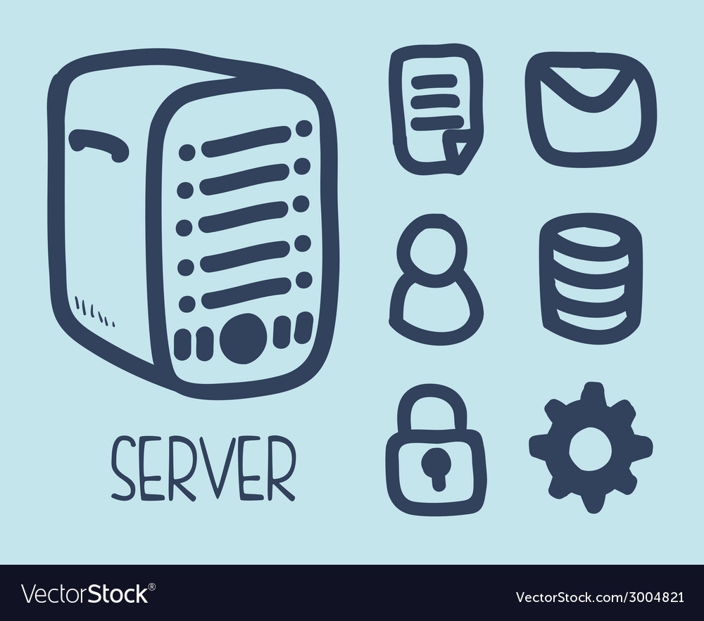 Server design vector | Price: 1 Credit (USD $1)