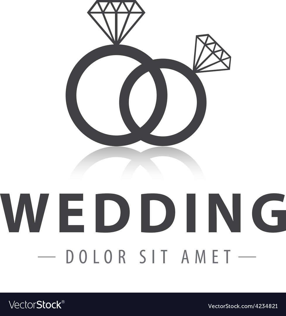 Wedding rings logo vector | Price: 1 Credit (USD $1)