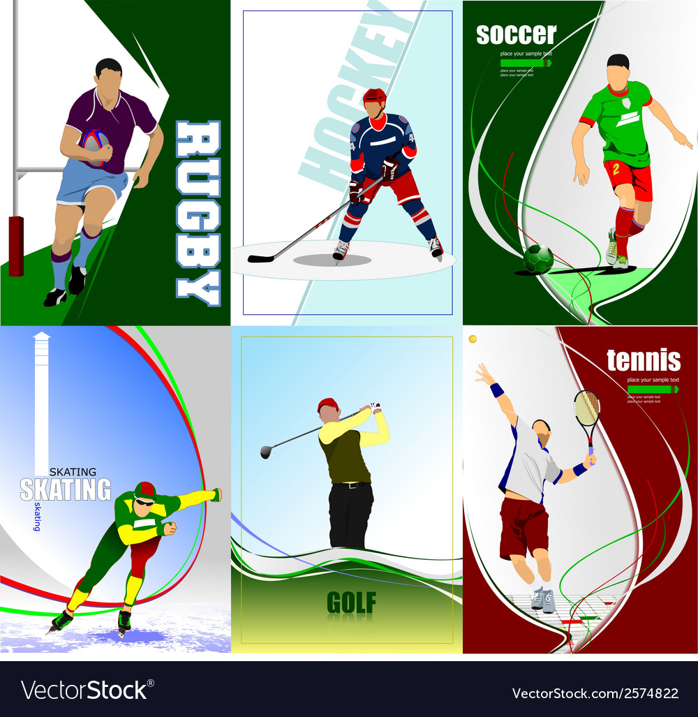 Al 0447 six posters 01 vector | Price: 1 Credit (USD $1)