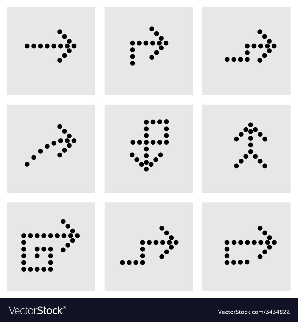Black arrows icon set vector | Price: 1 Credit (USD $1)