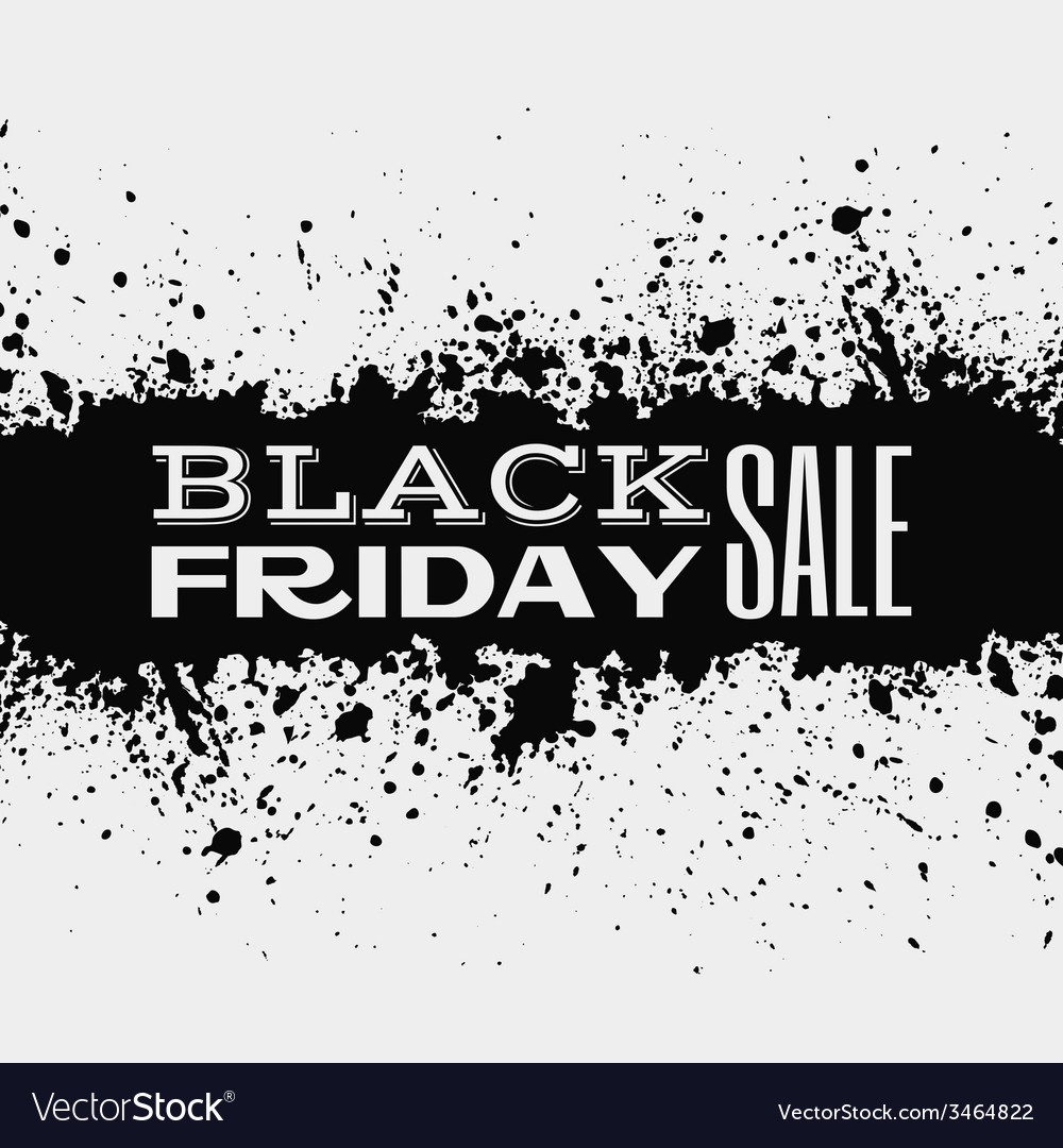 Black friday announcement on ink splatter vector | Price: 1 Credit (USD $1)