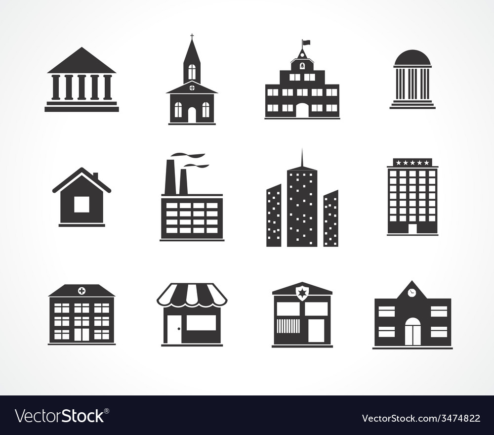 Building icons vector   Price: 1 Credit (USD $1)
