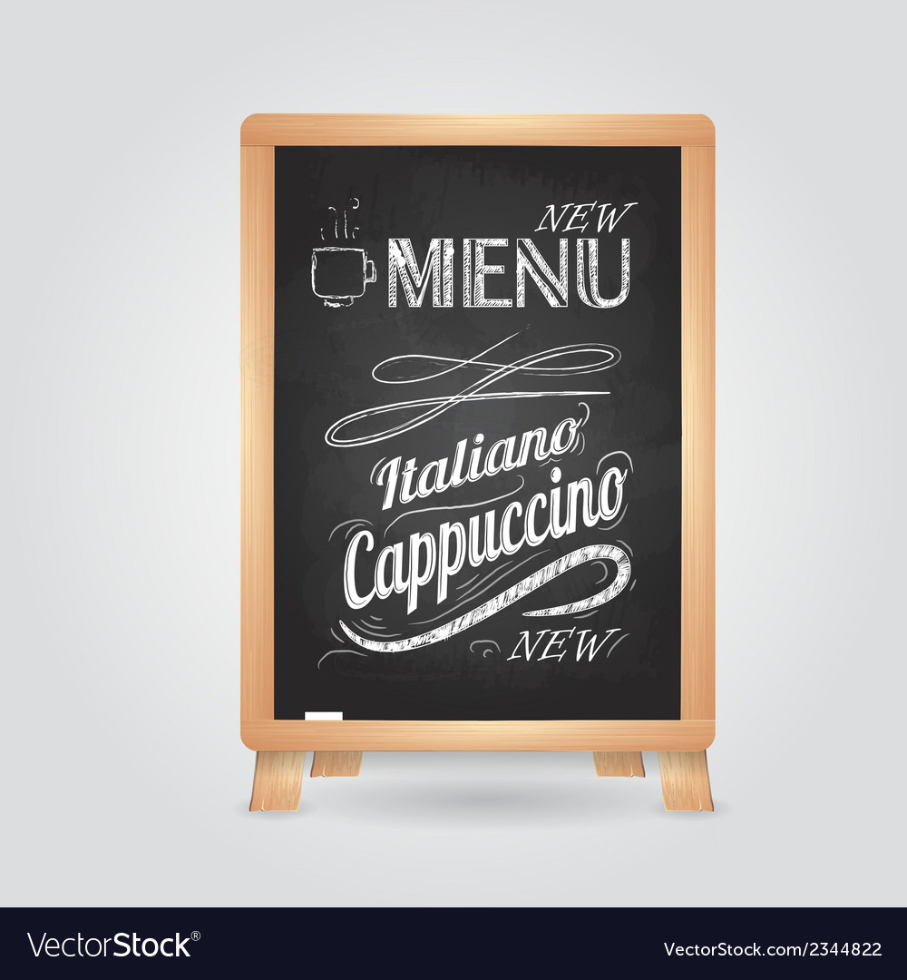 Chalk drawings retro typography vector | Price: 1 Credit (USD $1)