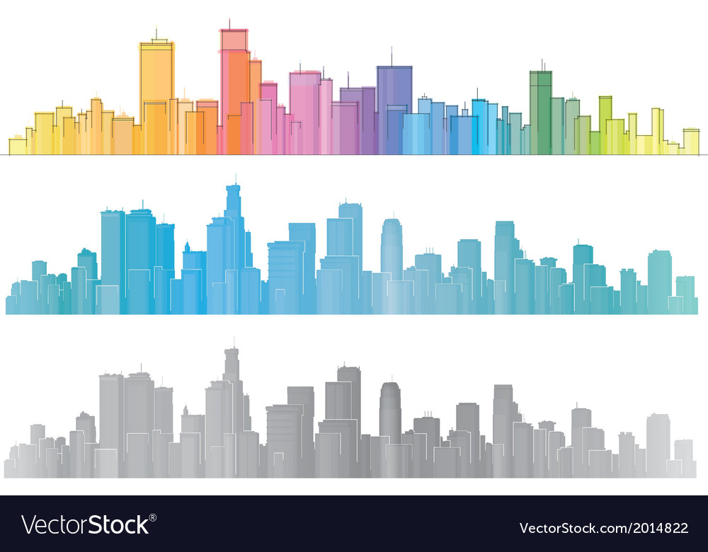 City colorful vector | Price: 1 Credit (USD $1)