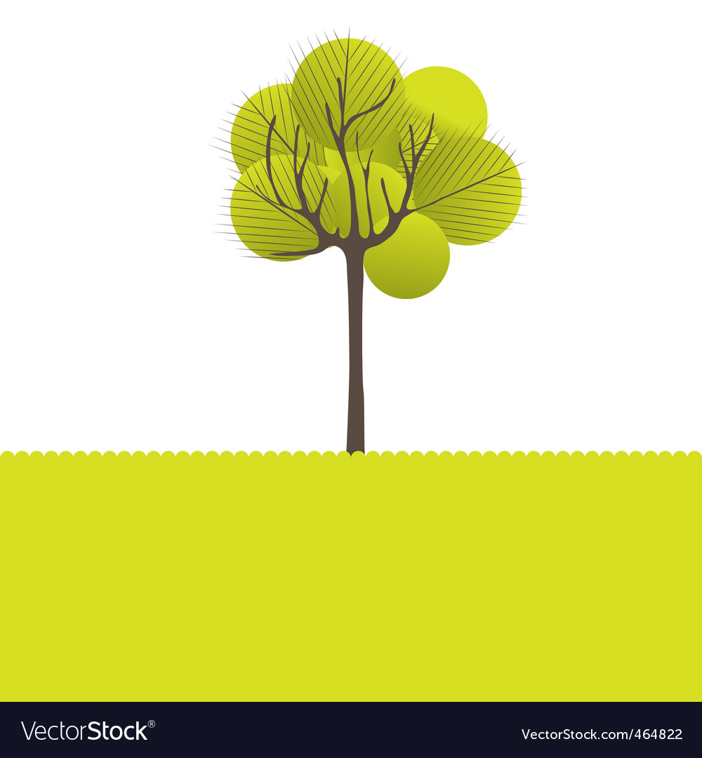 Ct tree flowers vector illustration vector | Price: 1 Credit (USD $1)