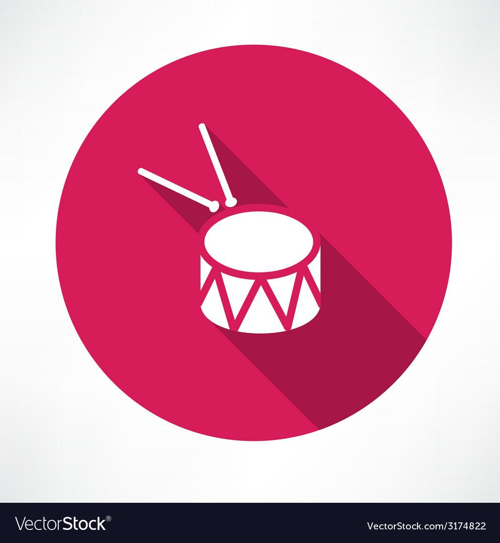 Drum icon vector | Price: 1 Credit (USD $1)