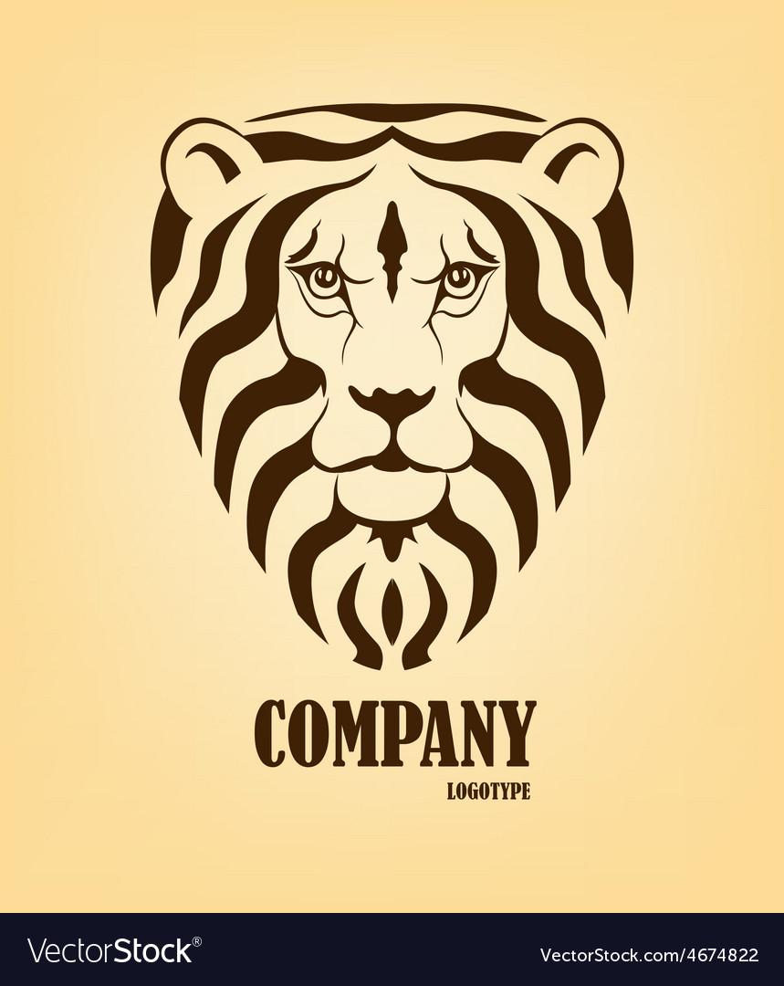 Lion head logo design template vector | Price: 1 Credit (USD $1)