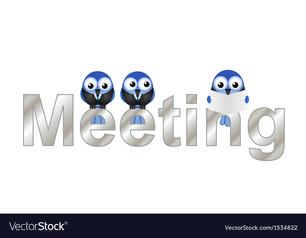 Meeting vector | Price: 1 Credit (USD $1)