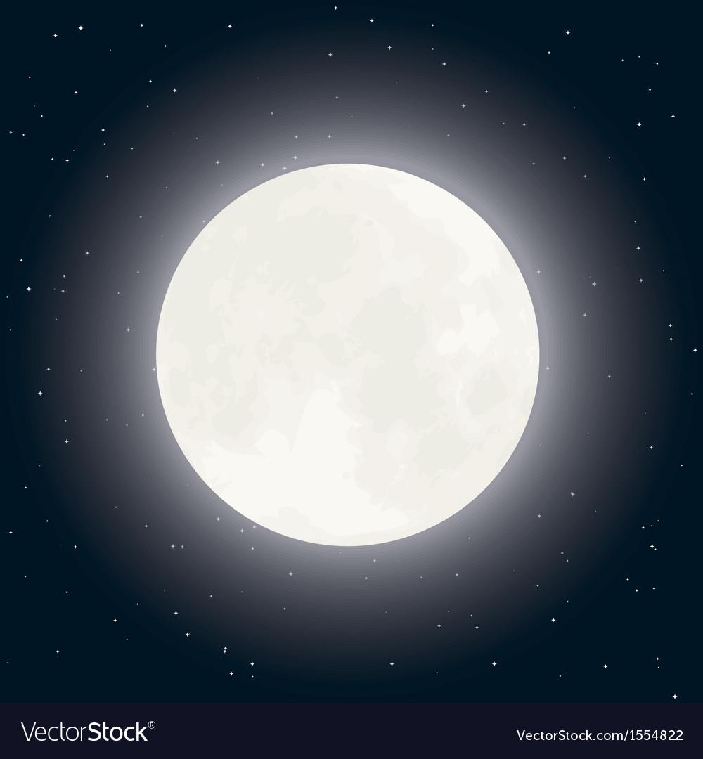 Moon and stars on dark sky vector   Price: 1 Credit (USD $1)