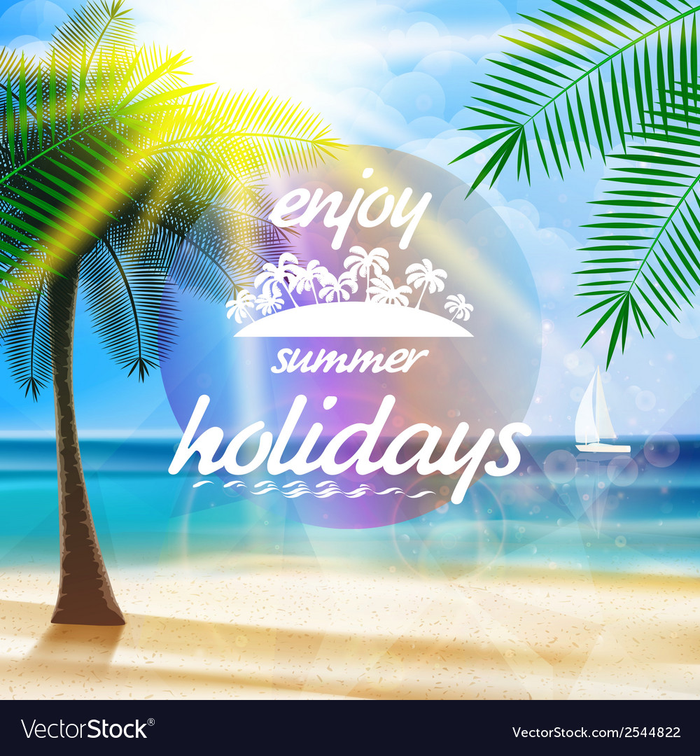 Summer typography holidays template vector | Price: 1 Credit (USD $1)