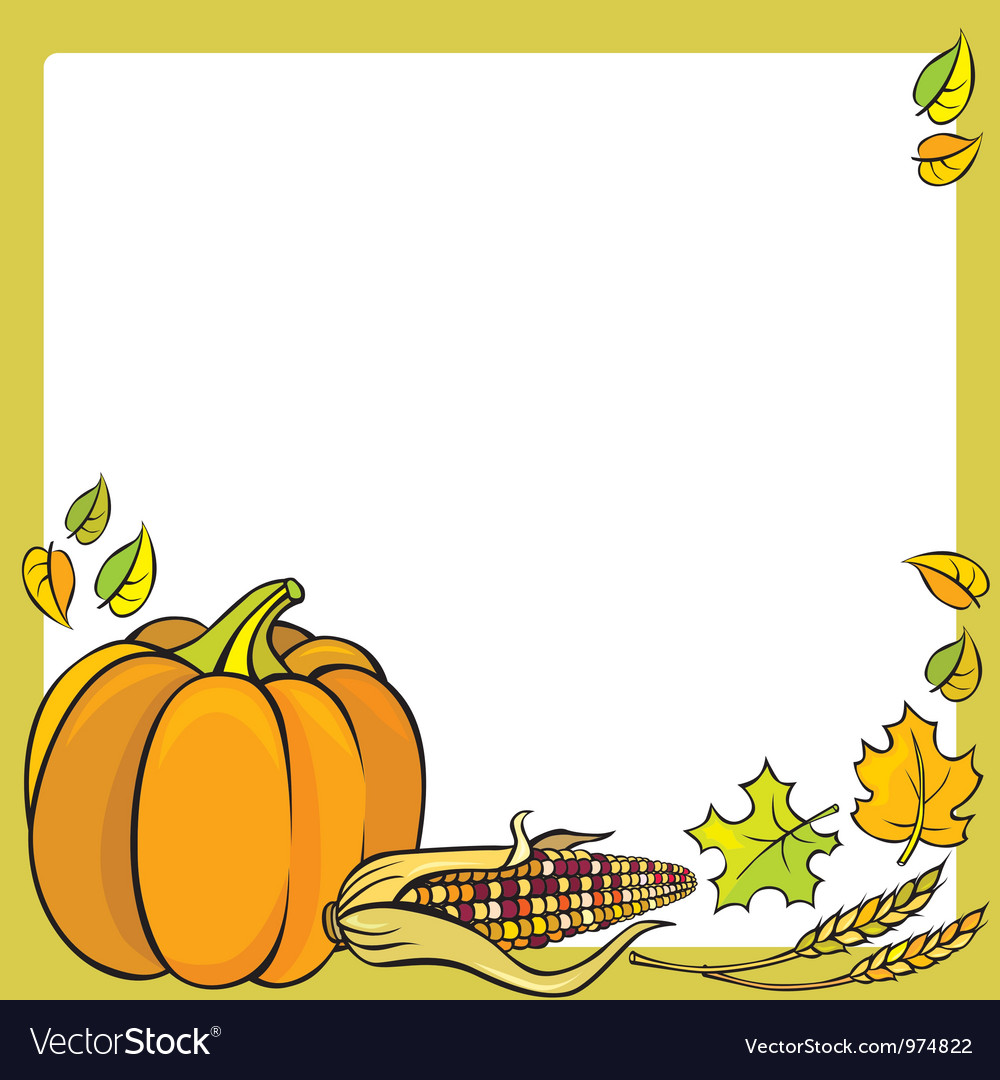 Thanksgiving frame vector | Price: 3 Credit (USD $3)