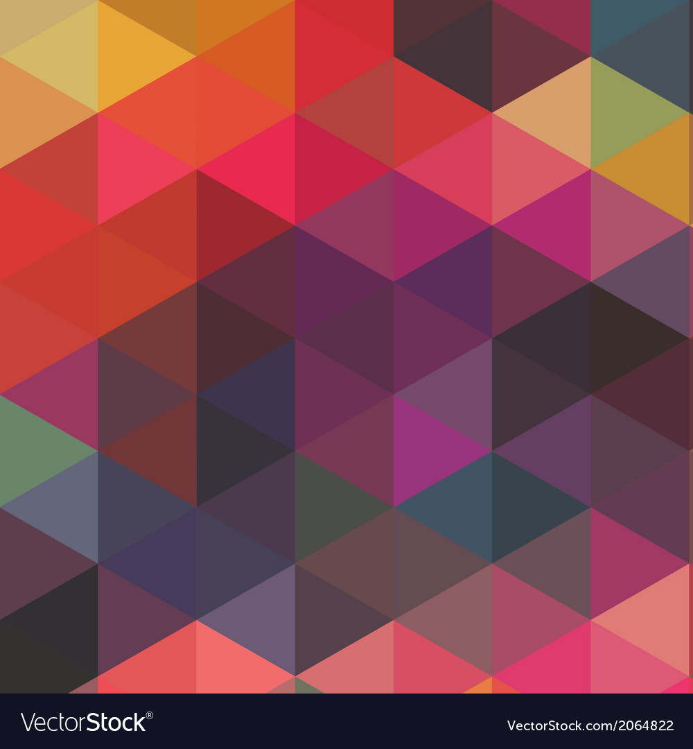 Triangles pattern of geometric shapes colorful vector | Price: 1 Credit (USD $1)