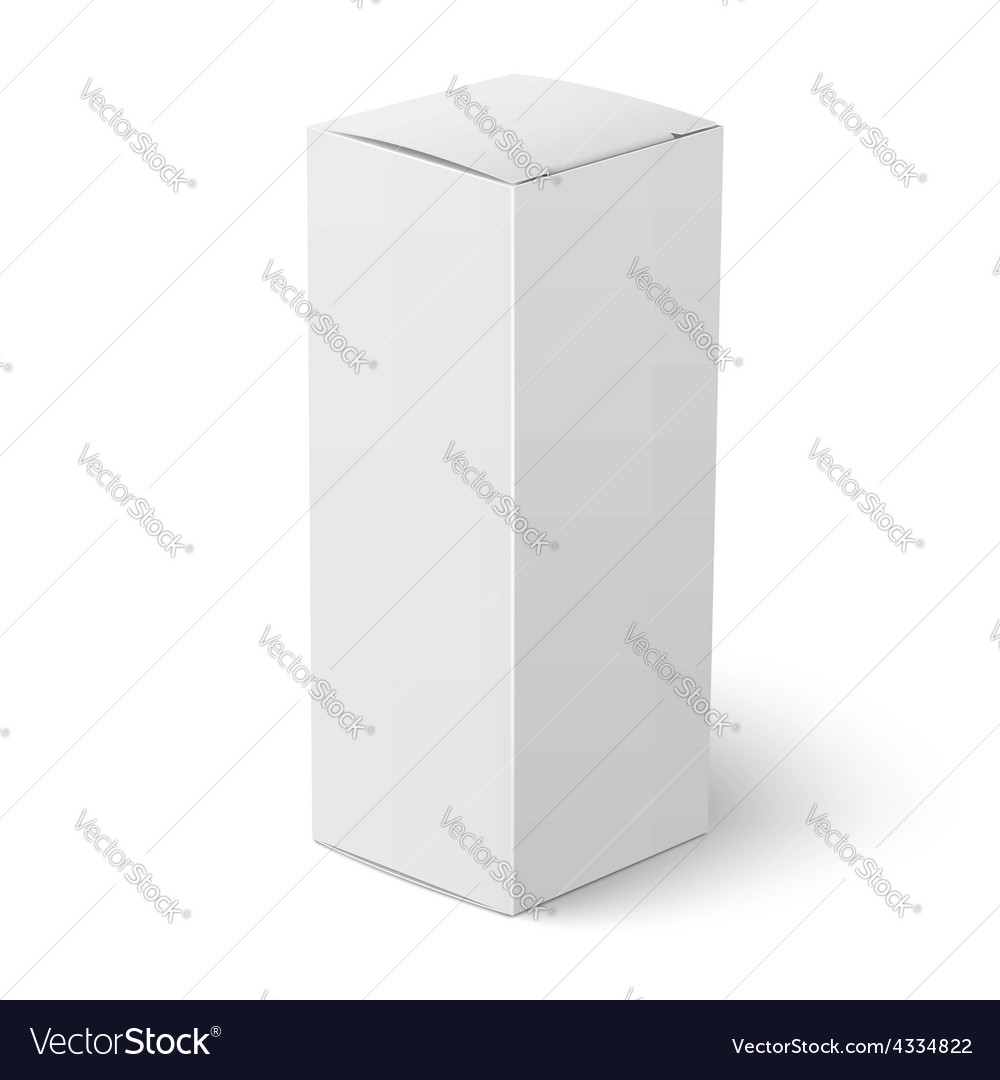 White vertical paper box template vector | Price: 1 Credit (USD $1)