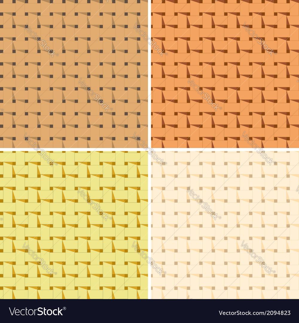 4 seamless braided pattern vector