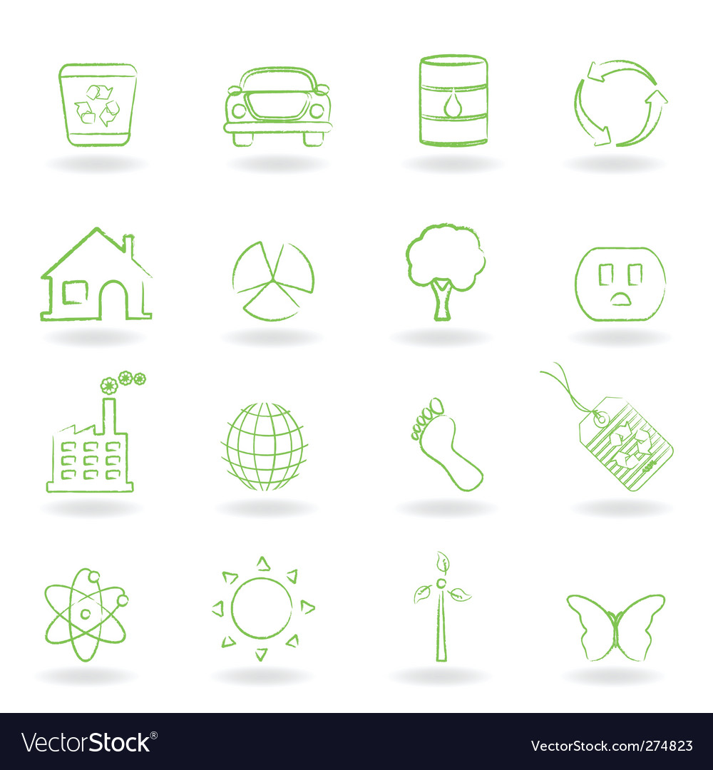 Eco friendly icon vector | Price: 1 Credit (USD $1)