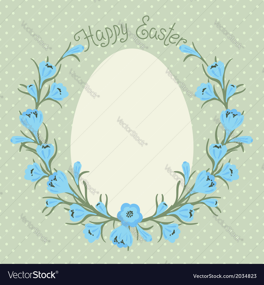 Happy easter card with place for your text vector | Price: 1 Credit (USD $1)