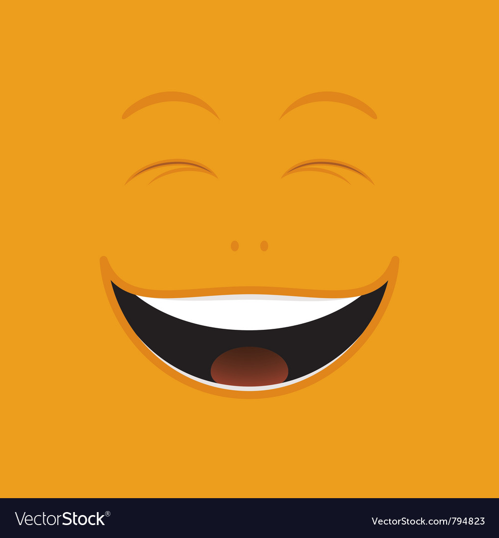 Laughing cartoon face vector | Price: 1 Credit (USD $1)
