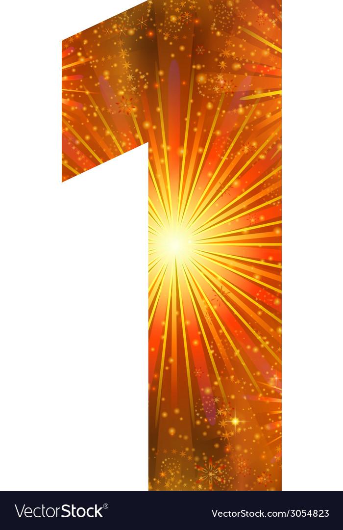 Number of orange firework one vector   Price: 1 Credit (USD $1)