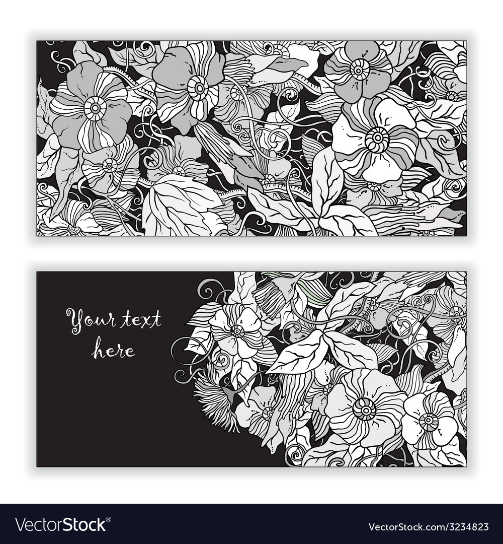Original abstract hand drawn pattern cards vector | Price: 1 Credit (USD $1)