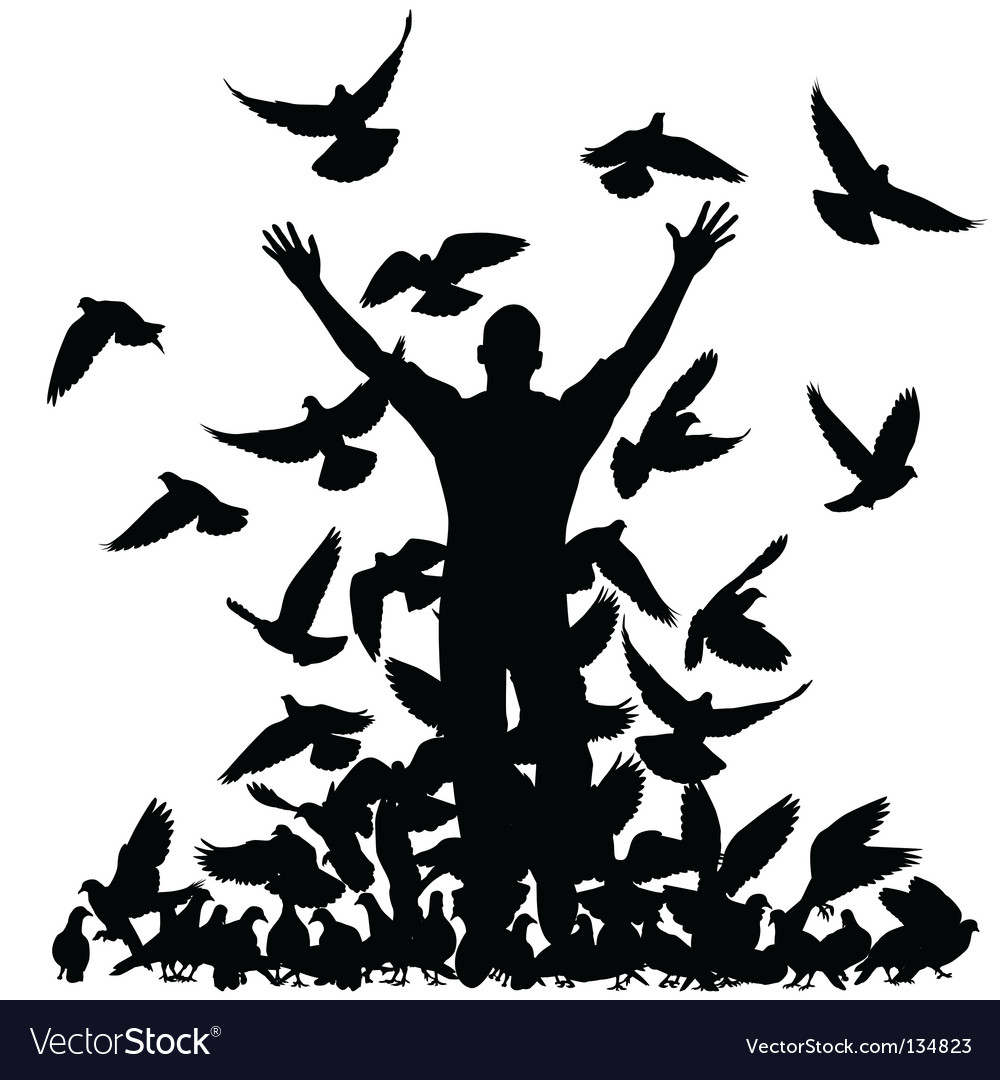 Pigeon man vector | Price: 1 Credit (USD $1)