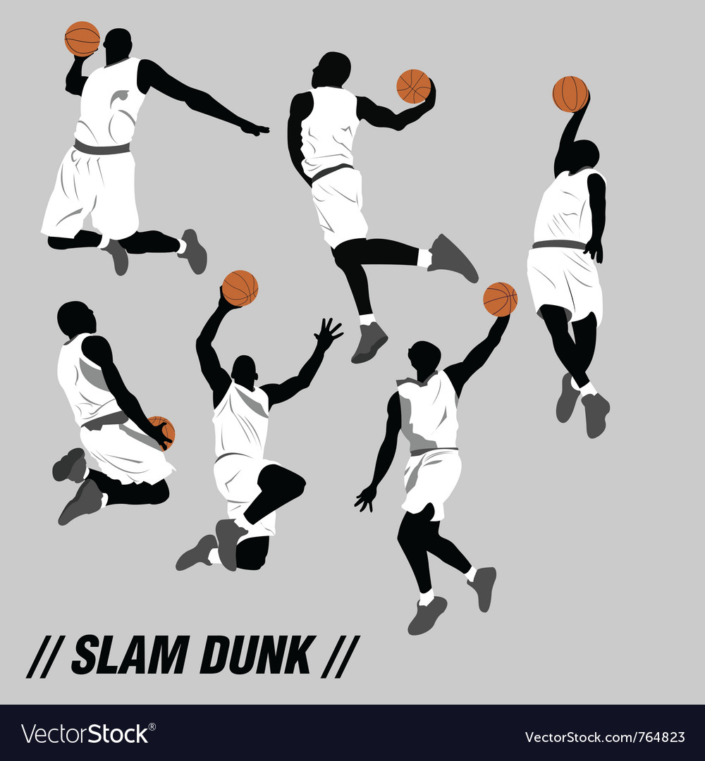 Slam dunk pose collection vector | Price: 1 Credit (USD $1)