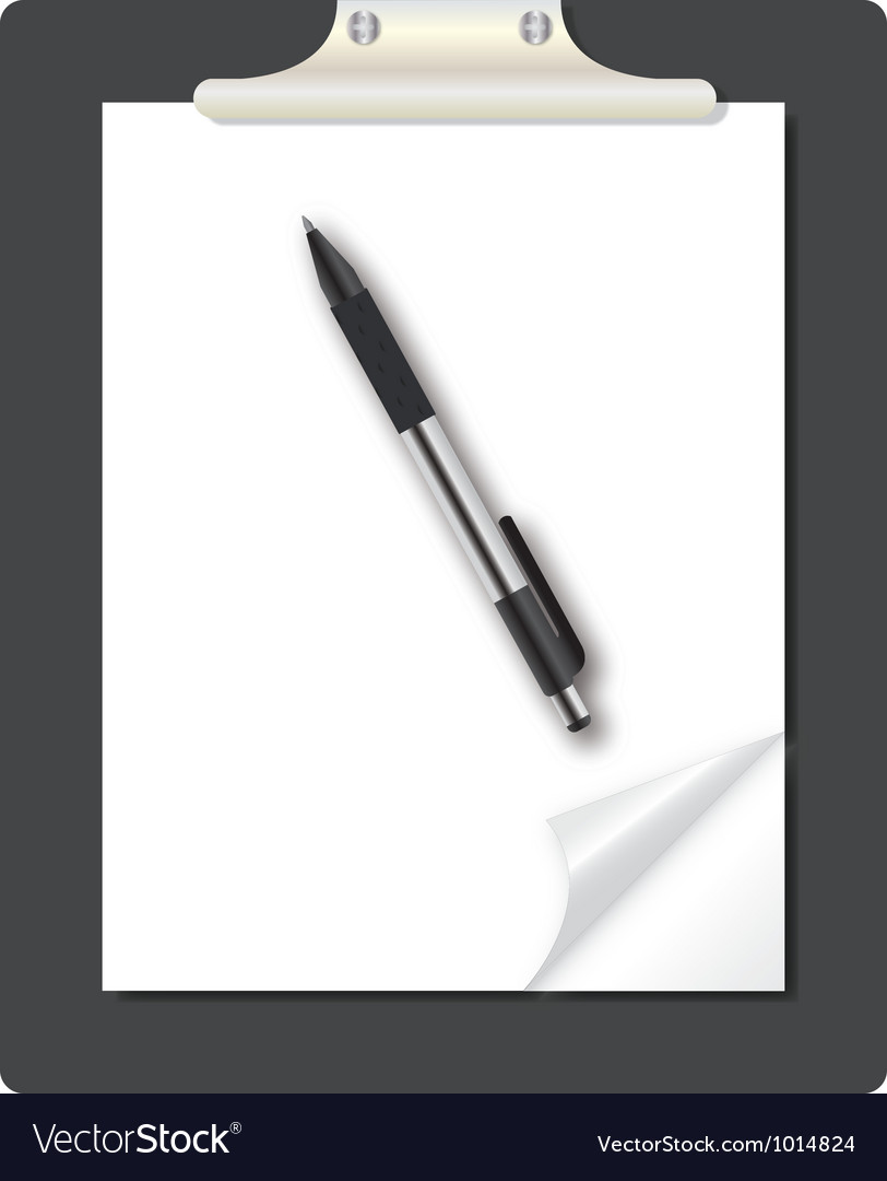 Abstract list icon with pen on business them vector | Price: 1 Credit (USD $1)