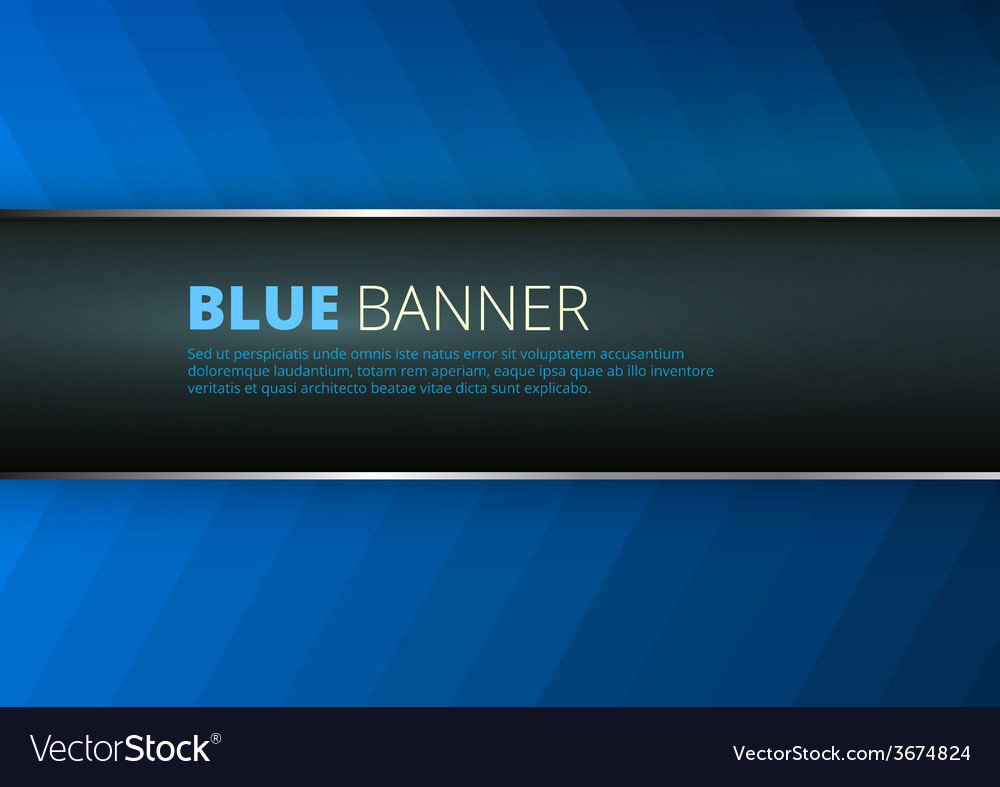 Blue background with banner place vector | Price: 1 Credit (USD $1)