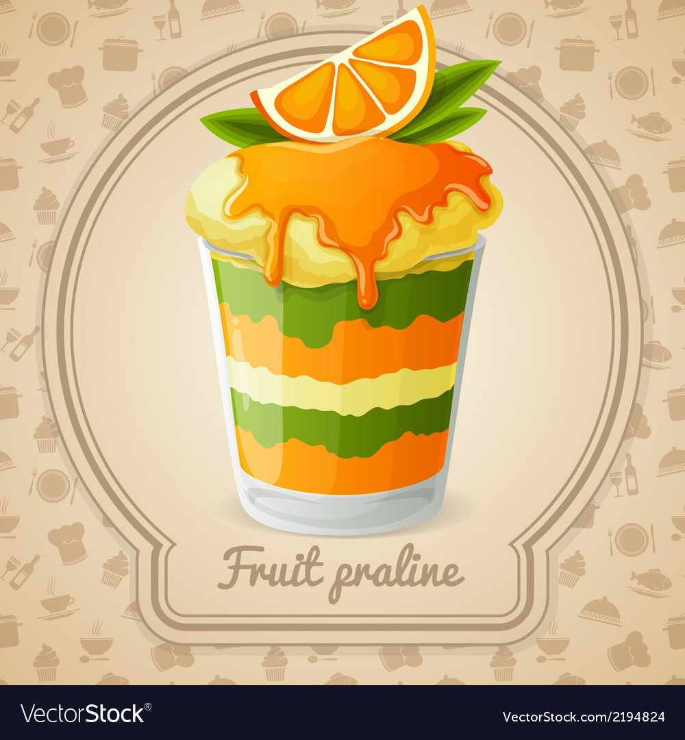 Fruit praline badge vector | Price: 1 Credit (USD $1)