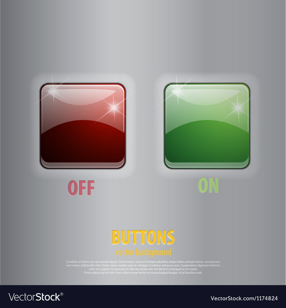 Glossy off on buttons vector | Price: 1 Credit (USD $1)