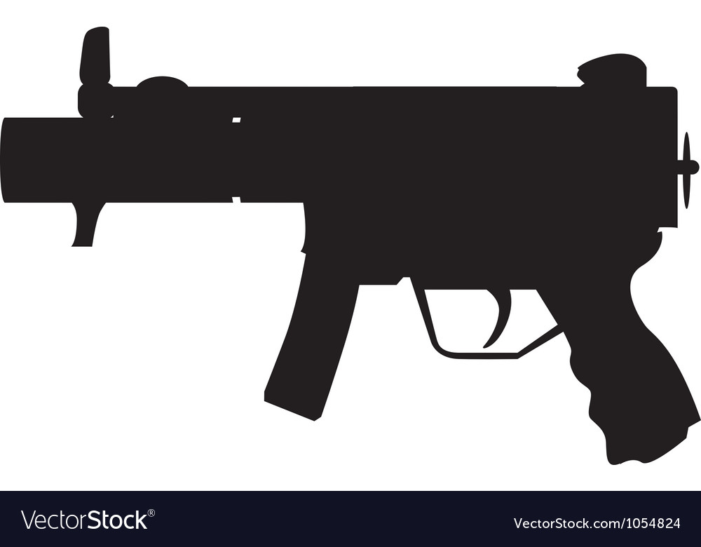 Military uzi vector | Price: 1 Credit (USD $1)