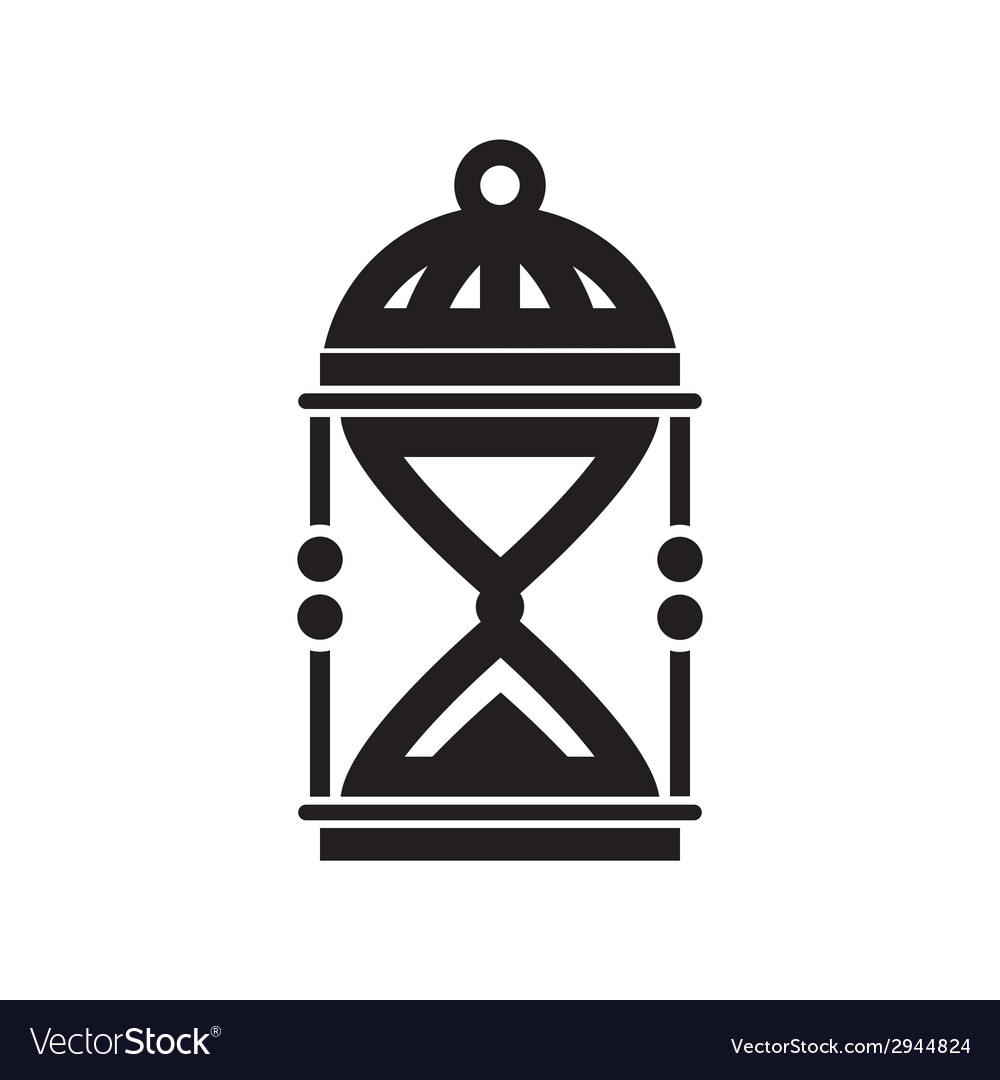 Sand clock silhouette vector | Price: 1 Credit (USD $1)