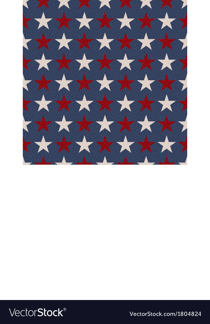 Seamless patriotic usa stars flag background vector | Price: 1 Credit (USD $1)