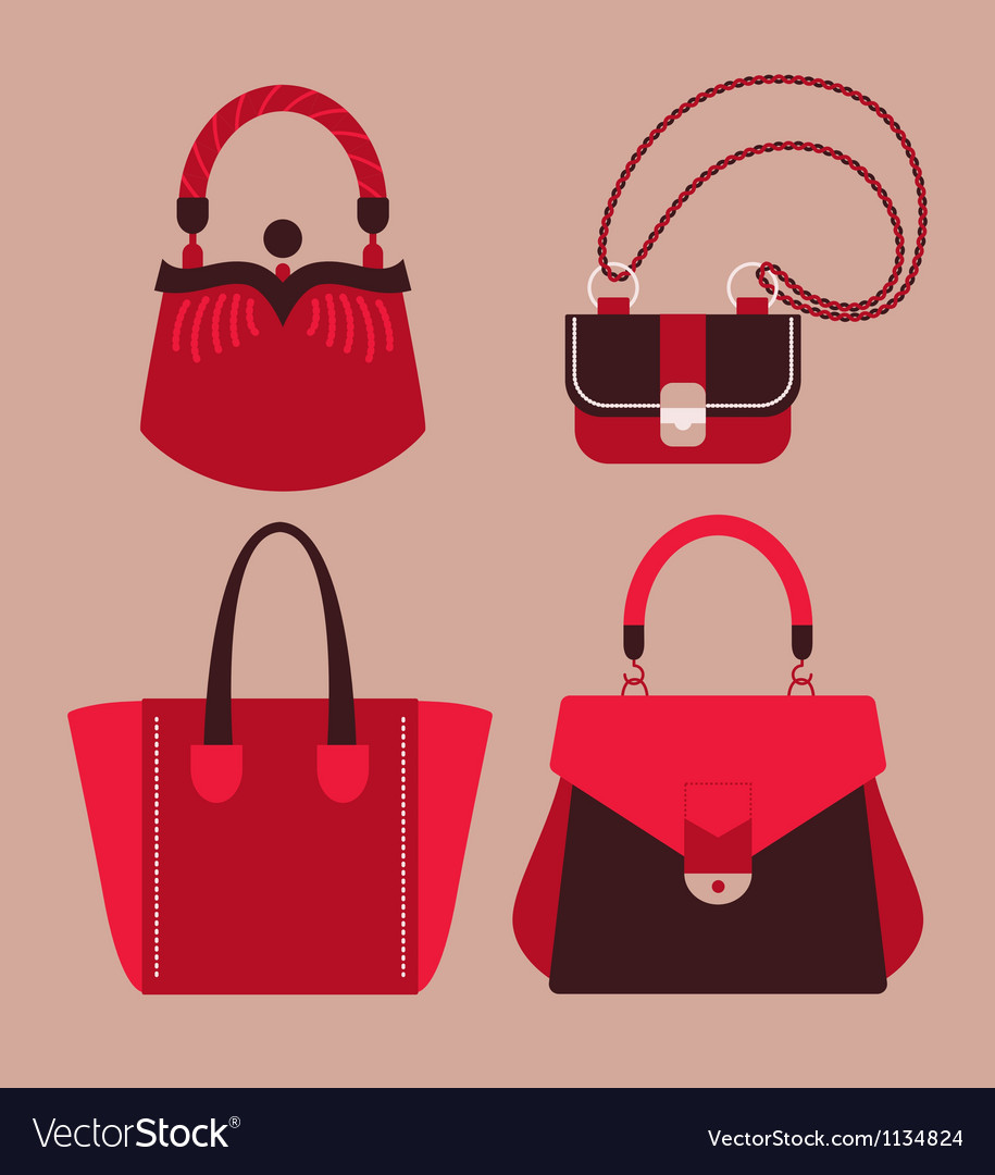 Woman bags vector | Price: 1 Credit (USD $1)