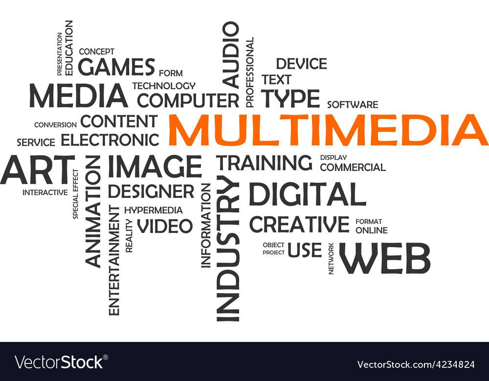 Word cloud multimedia vector | Price: 1 Credit (USD $1)
