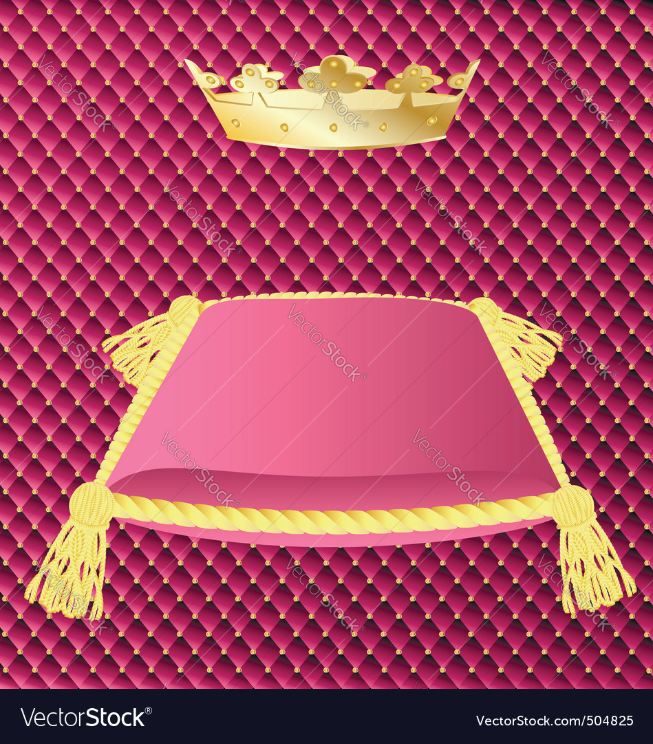 Cushion and crown vector | Price: 1 Credit (USD $1)