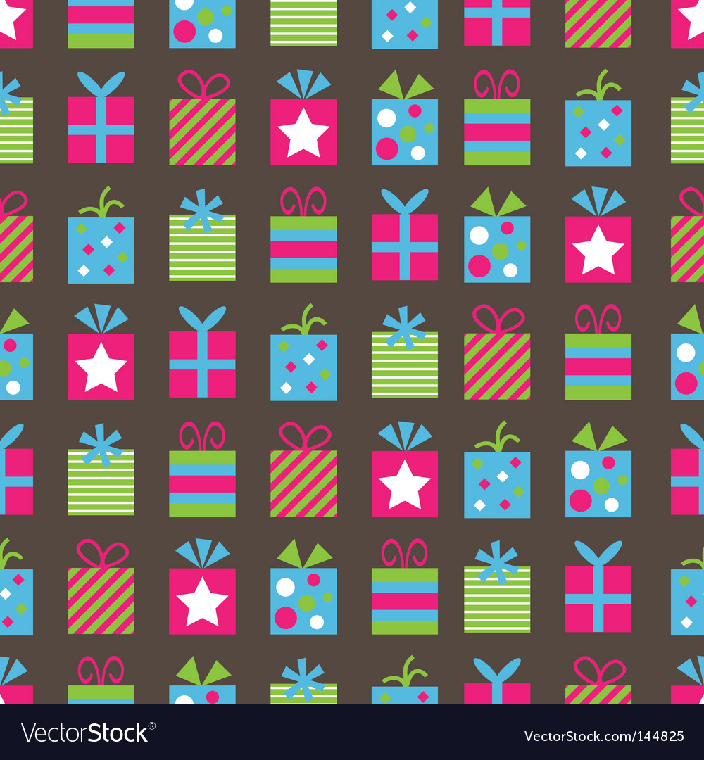 Gifts pattern vector | Price: 1 Credit (USD $1)