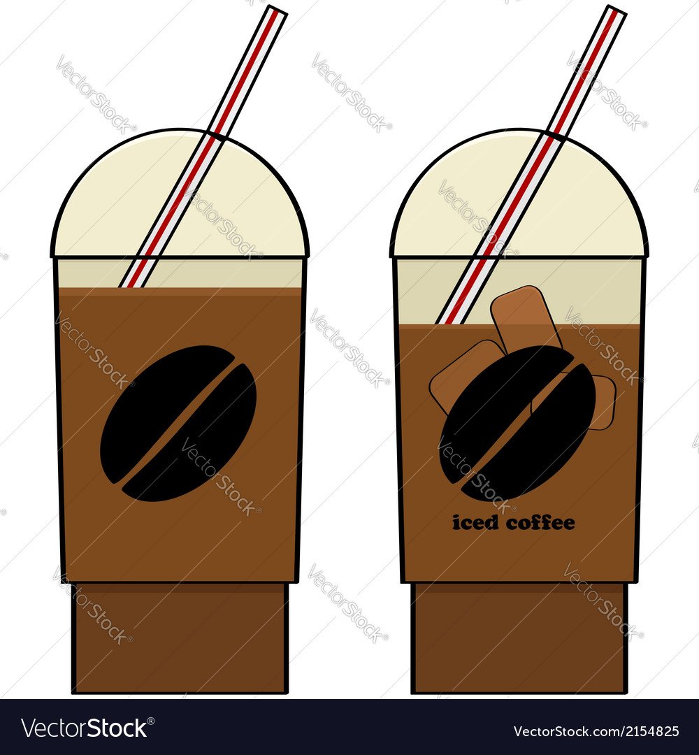 Iced coffee vector | Price: 1 Credit (USD $1)