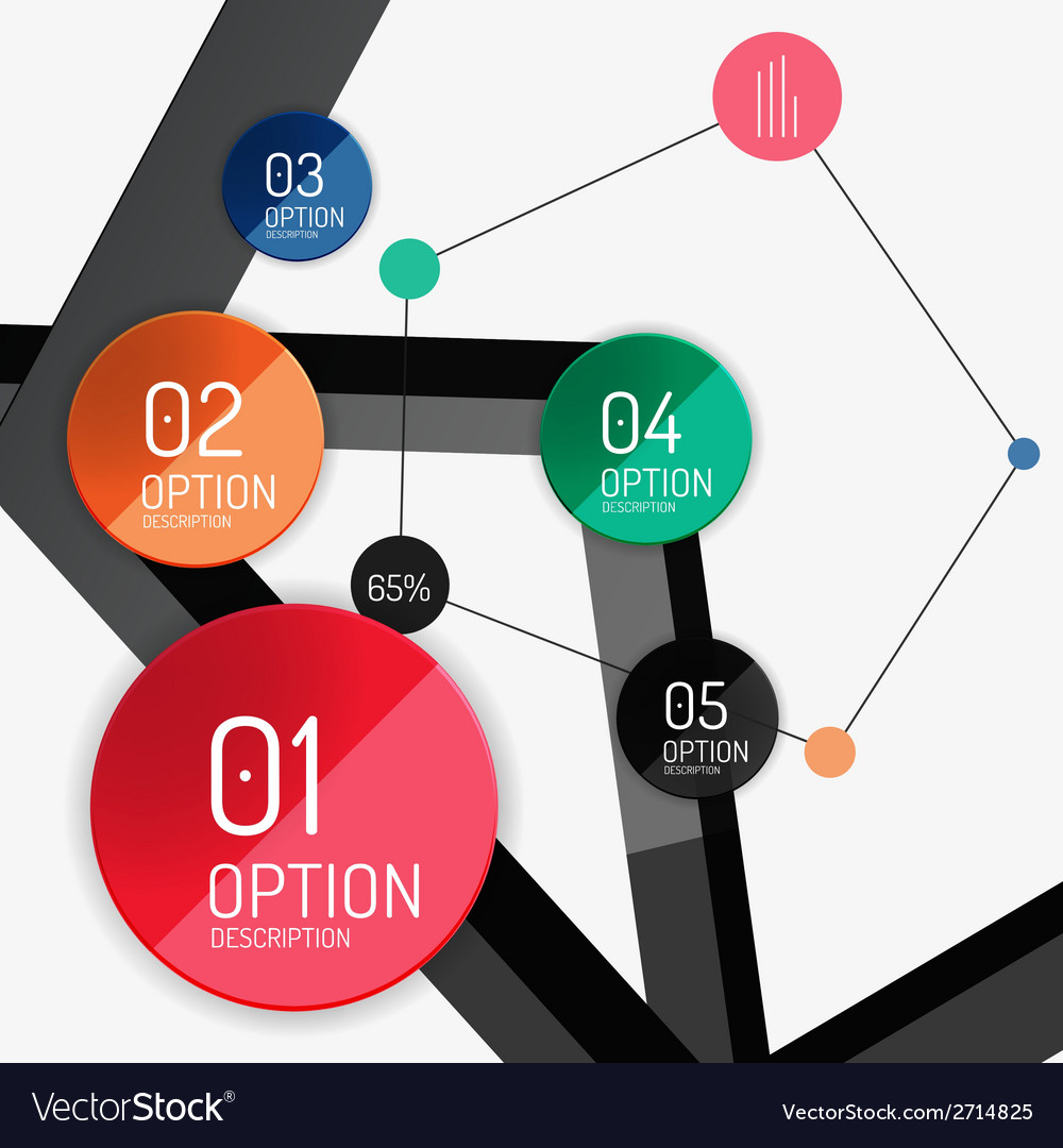 Infographic report template vector   Price: 1 Credit (USD $1)