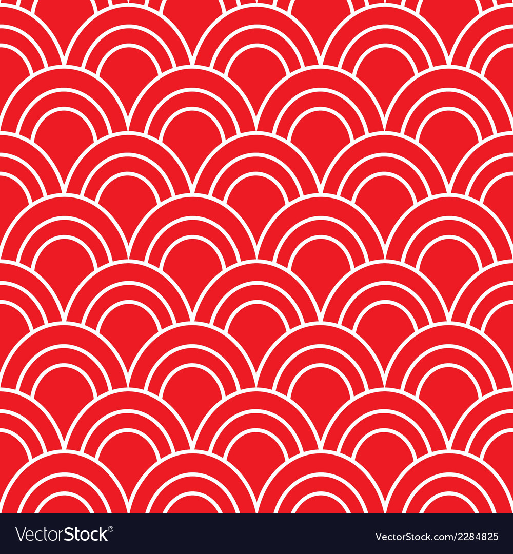 Japanese wave seamless pattern vector | Price: 1 Credit (USD $1)